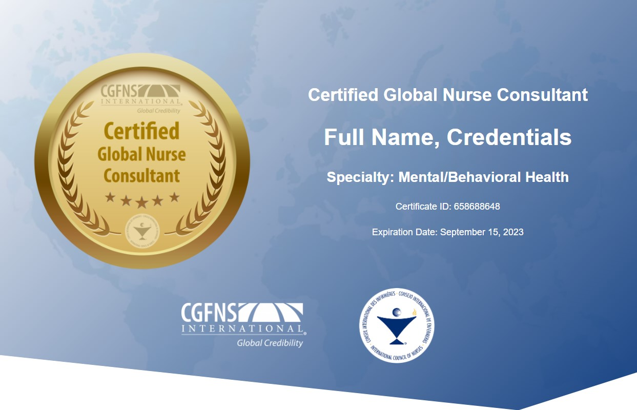 Example CGNC Certificate